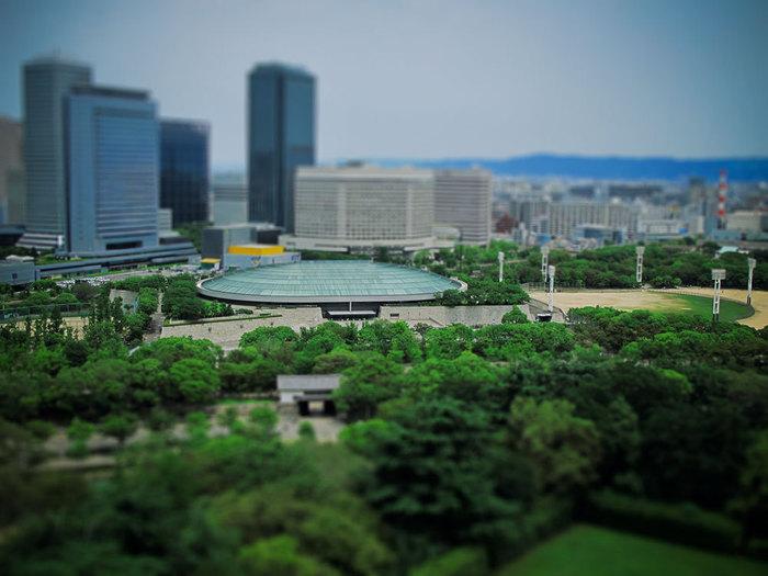 大阪城、天守閣からの眺めイメージ。(ジオラマです)
