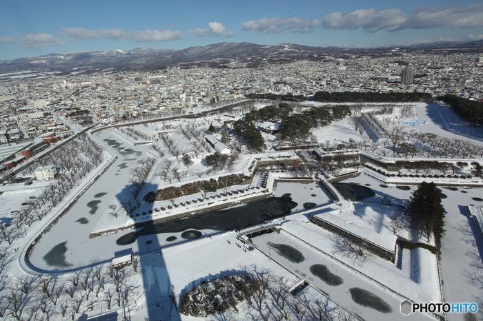 写真は北海道・函館市「五稜郭(ごりょうかく)」
