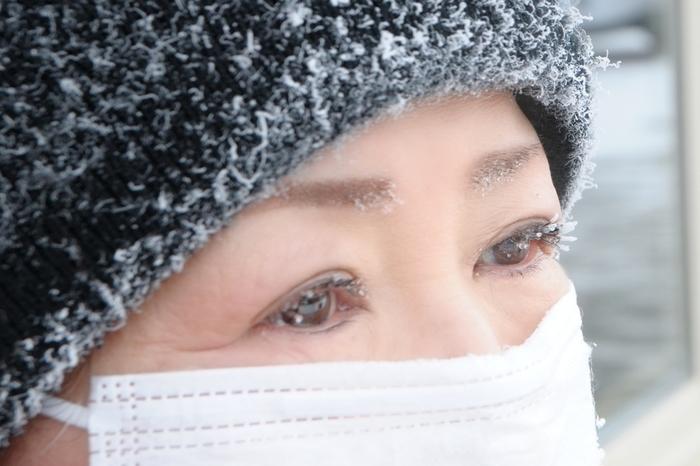 写真はカナダで昼間に撮った写真。オーロラが観られる深夜にはマイナス37度にもなるとか。日中でも吐く息でまつ毛が凍ってしまうのですね。