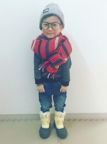 子どもは雪が目新しくて夢中になってしまうもの♪つるっと滑って転ばないように、足元はしっかりとしたスノーブーツで守ってあげましょう。