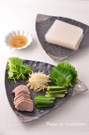 手巻き寿司のように、みんなで好きな具材を巻きながら食べるのも楽しそう!