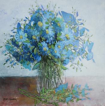 「青いブーケ」・・・優しく透明感のある水色のブーケです。心が和みます。
