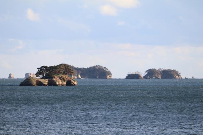 遊覧船から見る松島湾は、高台から一望するのとはまた違う魅力に溢れています。遊覧船に乗ると、湾内の美しさと強さがより身近に感じられます。