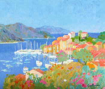 「入り江」・・・風光明媚な南フランスの海を取り巻く、こうした風景をクチュールは多く描きました。北に位置し太陽の少ないパリの暮らしが長かった彼にとって、南フランスの光と風に包まれながらキャンバスに向かう時間は、きっと至福の時間だったことでしょう。