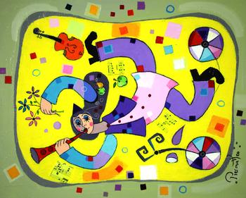 「クラリネットの調べ」・・・チェロやバイオリン、そしてクラリネットと、ピエルマテオが大好きなモチーフのひとつである楽器と音楽。見ているだけで楽しくなりますね!
