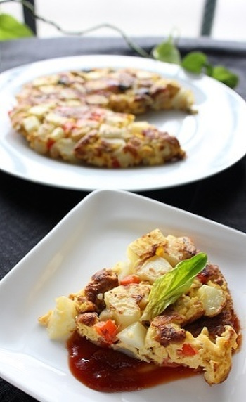 フリッタータとはイタリアの家庭料理のひとつで、具をたっぷり入れた卵のオーブン焼きのこと。何を入れても美味しいので、レシピにこだわらずいろいろアレンジしてみてください。