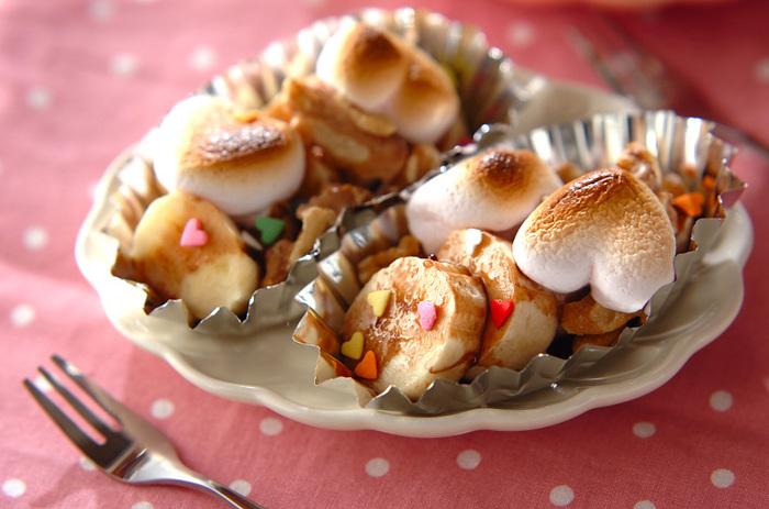 マシュマロのムニッとした食感が病みつきに♪トースターであっという間に作れます。