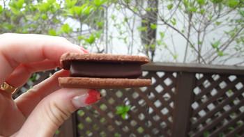 口の中で溶けるガナッシュとサクサクしておいしいクッキーが一度に楽しめます。約45×45×10mmと小さいですが、一つ食べると十分満足できます。濃厚なチョコレートを満喫したい人におすすめの逸品です。