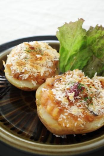 トッピングを変えれば、飽きのこない美味しさが楽しめます。写真は、トッピングに味噌とお豆を入れた、和風味アレンジのレシピ。