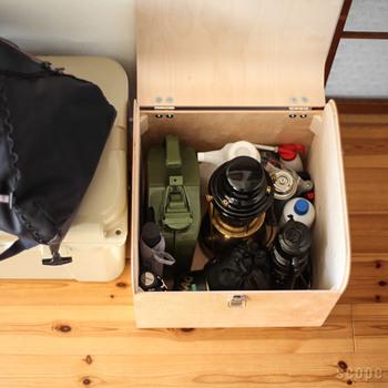 内側は無駄のない空間になっており、細かい物がたくさん入ります。棚に並べておくとホコリをかぶってしまう物も、すっきり収納できますね。