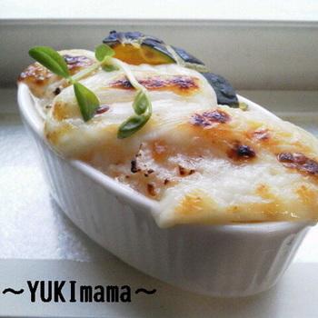 チーズとスパムの相性は抜群!とろ~り濃厚なグラタンをお楽しみに。