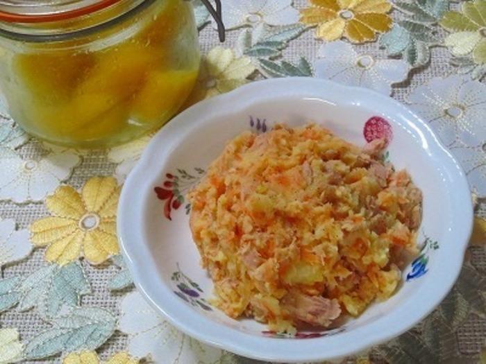 塩ゆずのおかげで、マヨネーズの量を減らせて、爽やか・ヘルシーなポテトサラダです。
