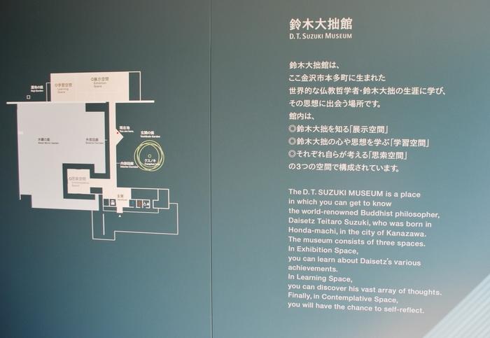 「展示空間」と「学習空間」は、書や写真、著作など大拙を真っ直ぐに伝える資料から鈴木大拙を、「知り、学ぶ」空間となっています。