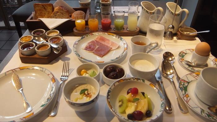 フランスの三ツ星レストランのシェフから受け継いだという、ホテル自慢のとっておきの朝ごはん。