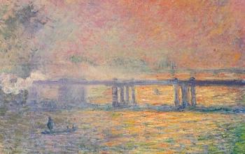 淡く温かみのある色彩で描かれた、ロンドンの「チャリング・クロス橋」。モネの作品はやさしくふんわりとした雰囲気のものが多いので、インテリアとしても非常に取り入れやすいですよ。