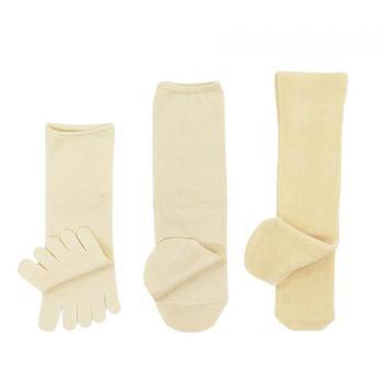 重ね履きソックスの方法 シルク→天然素材(綿や毛)→シルク→天然素材(綿や毛)を交互に4足以上履いて行きます。
