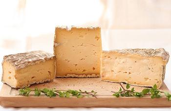 イタリアで一番有名なウォッシュタイプチーズです。タレッジョは表面を塩水で洗いながら途中で生えた余分なアオカビなどをそぎ落として、40日~60日ほど熟成させ作られます。もっちりとした舌触りで、ウォッシュタイプの中でもマイルドで食べやすいのが特徴です。