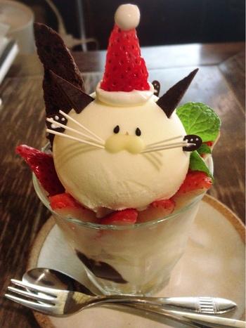 イチゴのお帽子をかぶったクリスマスバージョンもとってもキュート!!