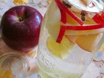 常備しているフルーツを使って、2時間で手軽にできちゃうフレーバーウォーター。林檎とレモンの爽やかな風味が、のどを優しく潤してくれそう。