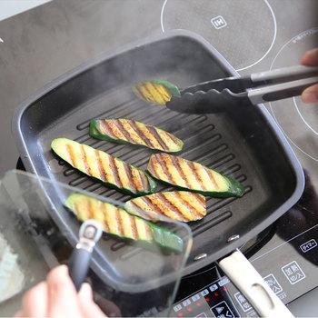 こちらは、先ほどご紹介した「マイヤー」のグリルパンです。しっかり美味しそうな焼き目をつけることができますよ。