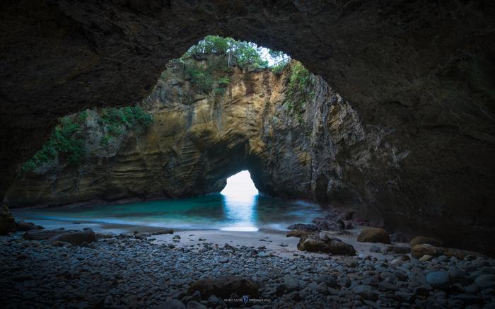 洞窟を見下ろせばハートの形。南伊豆のパワースポットへ行こう♪