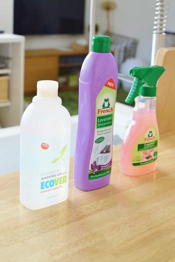 シンク周りに出しっぱなしにする洗剤や掃除グッズは、ぜひとも見た目にこだわりたいところです。