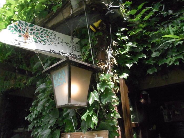 盛岡市中心部を流れる中津川。そのほとりにひっそりと佇む老舗カフェ「ふかくさ」。つたの絡まった外観が、隠れ家感を演出しています。
