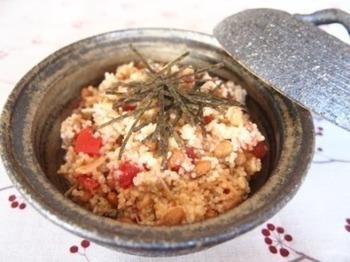 クスクスを和風にアレンジした斬新なレシピ。いつも食べているパスタでも和風パスタがあるので、クスクスも合わないわけがない♪クスクスの新発見なレシピです。
