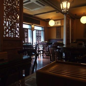 1、2階では中国茶の販売が行われており、3階が中国茶を飲める『茶藝館』に。