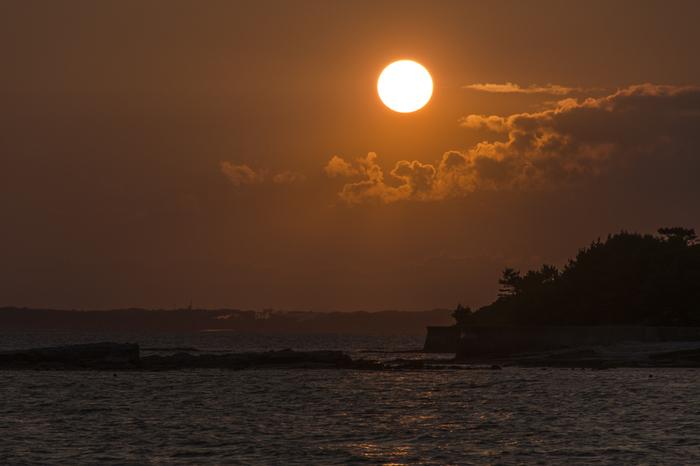島回りをしていると気が付いたら夕暮れ。 気持ちのいい汗を流しながらの海風はとっても心地いいですよね。