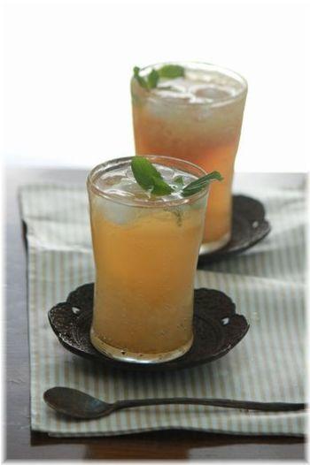タピオカを入れてちょっぴりデザート風ドリンクにアレンジ!生姜のシャキっとした歯触りや炭酸のしゅわしゅわ感がすっきり爽快です。