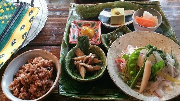 料理はすべてオーガニック。野菜がたっぷり摂れる、体にもココロにも嬉しいメニューばかり。