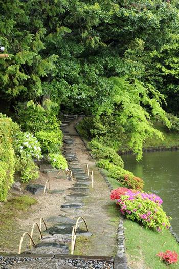 【近世を代表する名園「桂離宮」の園路】