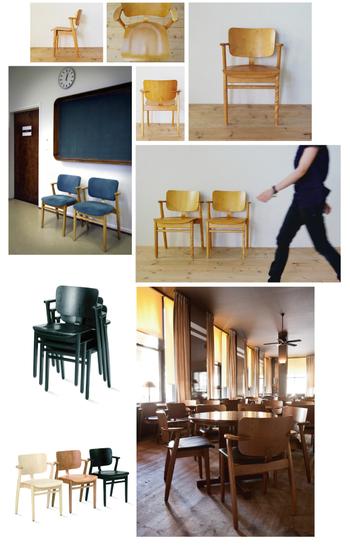 「ドムスチェア」はフィンランドの国民的なデザイン家具でもあります。公共スペースの他、レストランやカフェなどでもよく目にする馴染みのある椅子です。自然を愛する北欧の人々の暮らしに、自然と定着している様子が想像できます。