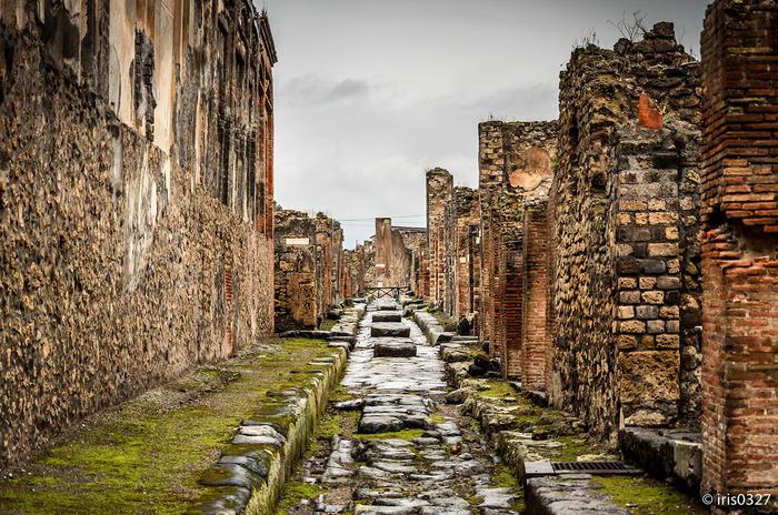 2000年の時間を経て眠りから覚めたポンペイ遺跡は、古代の人々がどのように生活していたのかを物語っています。遺跡内には、庶民の娯楽施設、共同浴場、クリーニング店などが残されており、私たちと変わらない生活をしていたことを今に伝えています。