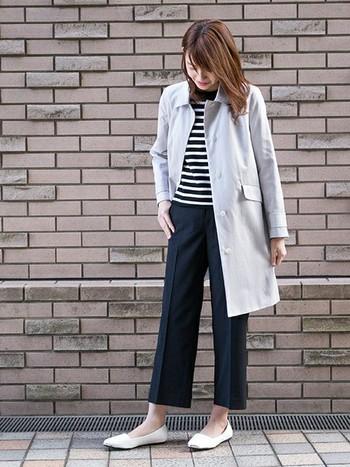 ステンカラーコートは、ウール・ナイロン・コットン・リネンなど色々な素材のものがあります。 トレンドに左右されにくい定番デザインなので、素材や丈を選べば、季節を問わずに羽織れる優れもの。一着持っていると、色んなシーンで活躍してくれること間違い無し♪