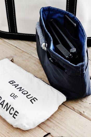 無印良品から出ている7つのスペースに仕切ることができる整理ポーチも便利です。ポケットの無いトートバッグに使いたい!