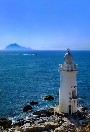 神島の灯台。 三島由紀夫作「潮騒」の舞台にもなった島です。