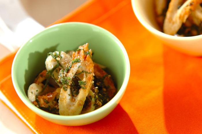 【ちくわの大葉和え】 切って和えるだけの簡単レシピ。お弁当にも、お酒のおつまみとしても使えるレシピです。