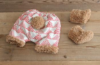 赤ちゃんのオムツ姿をとっても可愛く見せてくれる…かぼちゃパンツと、ボアブーツ♡