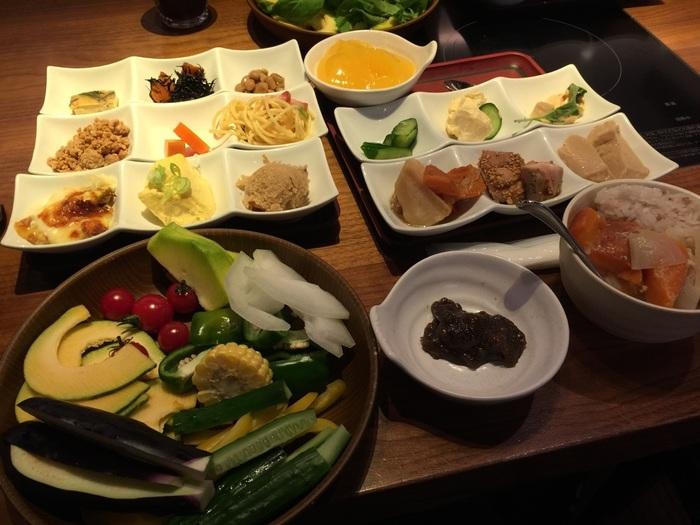 野菜たっぷりのメニューなので食べ過ぎてもOK♪ダイエット中の方にも嬉しいブッフェです。