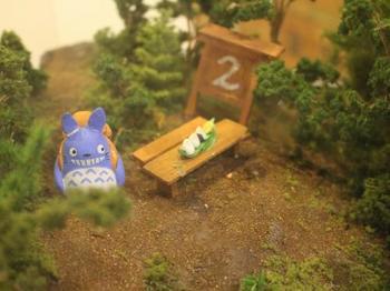 ギャラリーではトトロのジオラマを見ることもできます。トトロの世界が小っちゃく再現されていて可愛い!