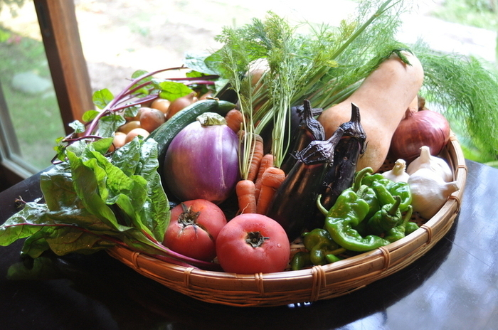料理の基本である食材は、オーガニックや無農薬のものを厳選して使用しています。
