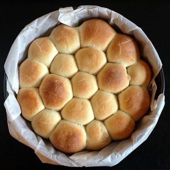 その名の通りちぎって食べるちぎりパン。おいしさもさることながら、そのかわいい見た目にもう興味津々!