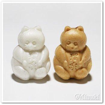 王子稲荷神社があり狐の町と知られる場所に狸家として100年以上の歴史がある和菓子店のたぬき最中。食べるのがもったいなく感じるほど、たぬきの姿にほっこりと癒されます。