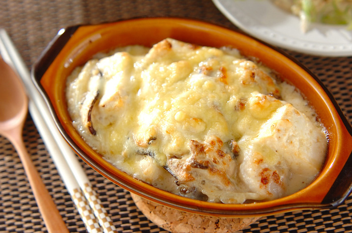 お豆腐はきちんと水切りするのが水っぽくならないポイント。ホタテのうまみと生クリームのクリーミーさがクセになる一品。おつまみにも◎