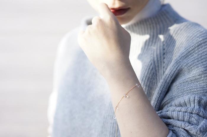 写真は「HARIOランプワークファクトリー」のWater Drops ブレスレット リトルティアーズ
