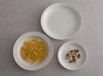 プレートは、少し深めでリムが太目なBタイプと、丸みを帯びてリムが細めのAタイプがあり、サイズはそれぞれ2種類。