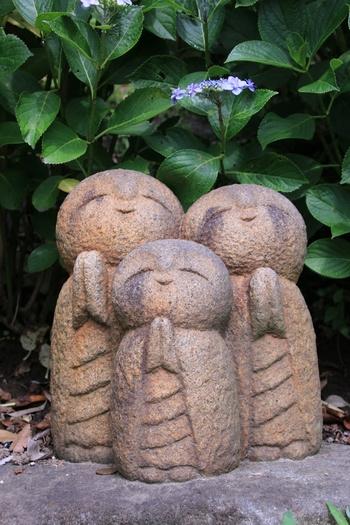 愛らしさいっぱいの長谷寺のお地蔵さん。境内で沢山のお地蔵さんと出会いましょう。