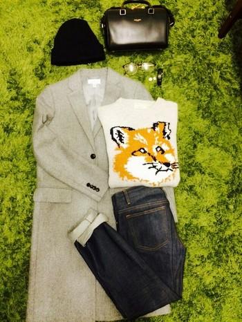 音楽とファッションが融合したプロジェクト「Kitsuné(キツネ)」のブランド「Maison Kitsuné(メゾンキツネ)」 モデルと女優で活躍中の水原希子さんが2013-2014年秋冬シーズンのモデルに起用されたことでも話題になりました。